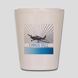 Aircraft Cirrus SR22 Shot Glass