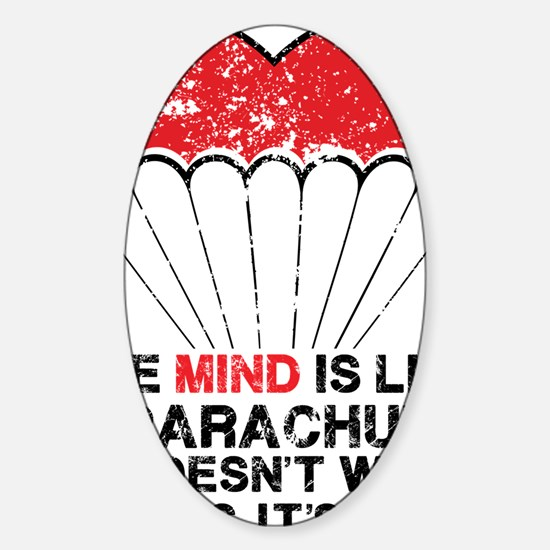 parachute Sticker (Oval)