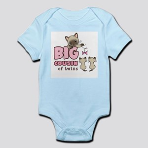 Big Cousin of Twins (Kitty) Infant Bodysuit