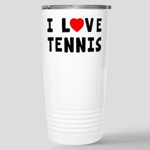 I Love Tennis Stainless Steel Travel Mug