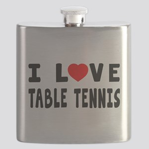I Love Table Tennis Flask