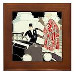 Art Deco Gatsby Scene Framed Tile