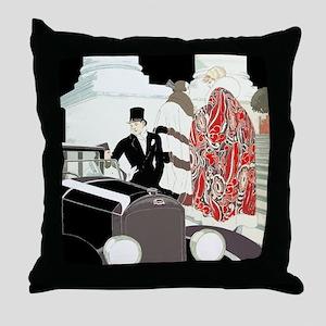Art Deco Gatsby Scene Throw Pillow