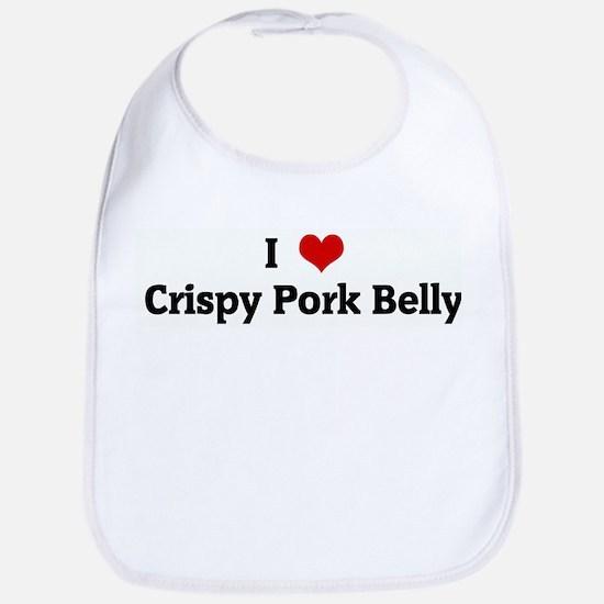 I Love Crispy Pork Belly Bib