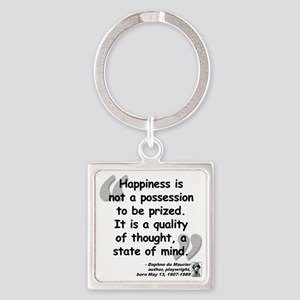 Maurier Happiness quote Square Keychain