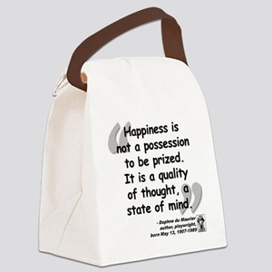 Maurier Happiness quote Canvas Lunch Bag