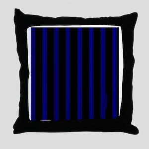 tileboxbluepinstripe Throw Pillow