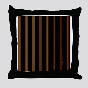 tileboxorangepinstripe Throw Pillow