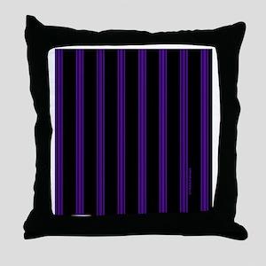 tileboxpurppinstripe Throw Pillow