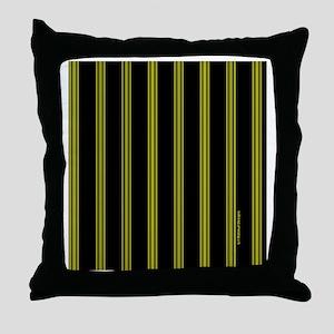 tileboxyelopinstripe Throw Pillow