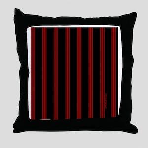 tileboxredpinstripe Throw Pillow