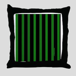 tileboxgrnpinstripe Throw Pillow