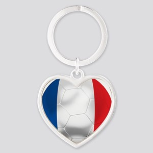 France Football Heart Keychain