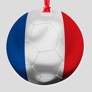 France Football Round Ornament