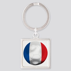 France Football Square Keychain