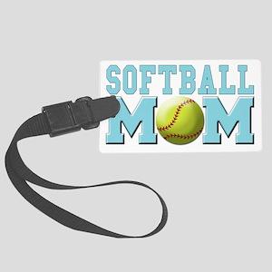 softball mom Large Luggage Tag