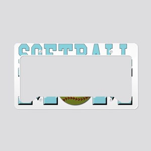 softball mom License Plate Holder
