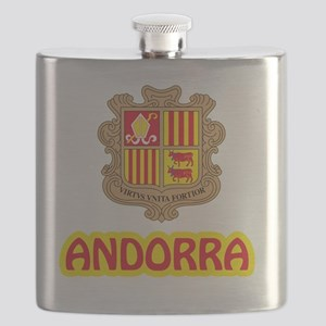 Andorra Coat of Arms Flask