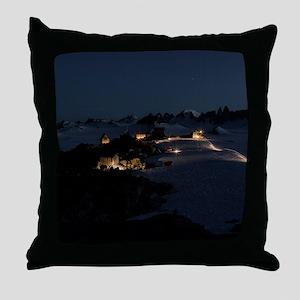 2013.01 Camp at Night Throw Pillow