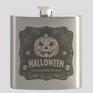 Here For The Boos Flask