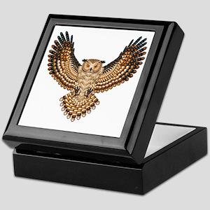 Beaded Owl Totem Keepsake Box