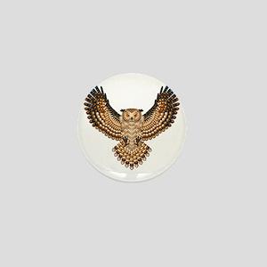 Beaded Owl Totem Mini Button