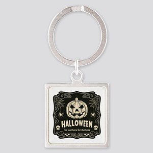 Here For The Boos Square Keychain