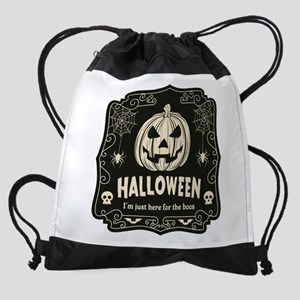 Here For The Boos Drawstring Bag