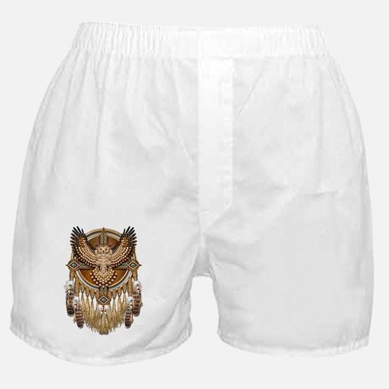 Native American Owl Mandala Boxer Shorts