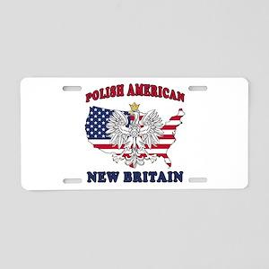 New Britain Connecticut Polish Aluminum License Pl