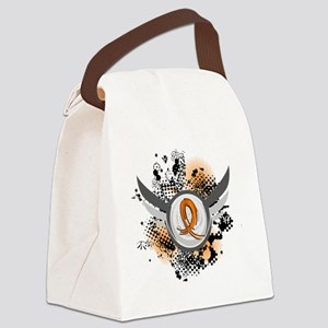 D Orange Ribbon And Wings Multipl Canvas Lunch Bag