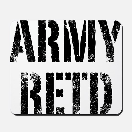 Army retd black distressed print Mousepad