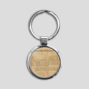 vintageperioidctable Round Keychain