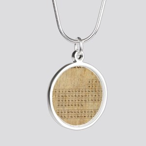 vintageperioidctable Silver Round Necklace