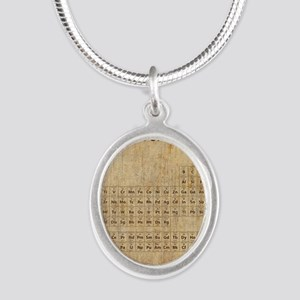vintageperioidctable Silver Oval Necklace