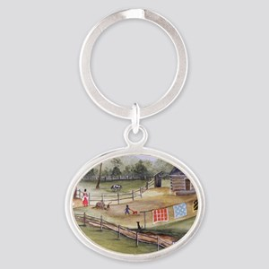 Mary Pattersons Quilts Oval Keychain