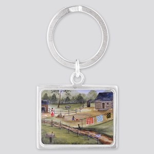 Mary Pattersons Quilts Landscape Keychain