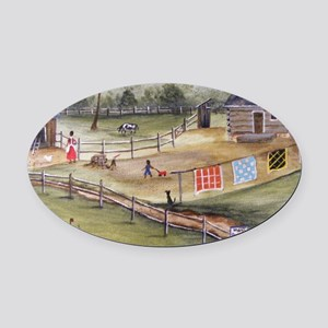 Mary Pattersons Quilts Oval Car Magnet
