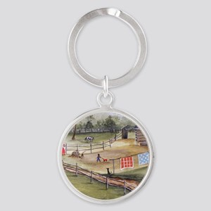 Mary Pattersons Quilts Round Keychain
