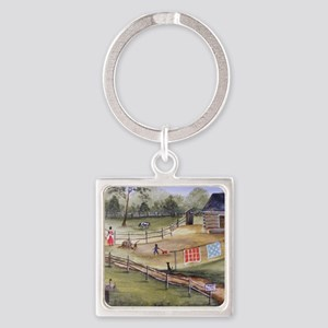 Mary Pattersons Quilts Square Keychain