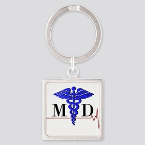 Medical Doctor Square Keychain