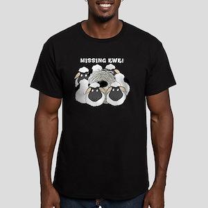 MissingEweCard3 Men's Fitted T-Shirt (dark)