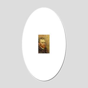 Van Gogh Self Portrait 20x12 Oval Wall Decal