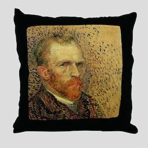 Van Gogh Self Portrait Throw Pillow