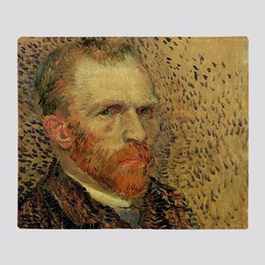 Van Gogh Self Portrait Throw Blanket