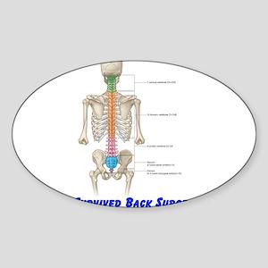 I Survived Back Surgery! Oval Sticker