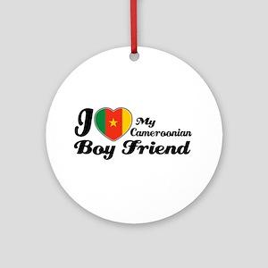 cameroonian boy friend Ornament (Round)