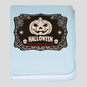Funny Halloween baby blanket