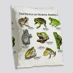 Tree Frogs of North America Burlap Throw Pillow
