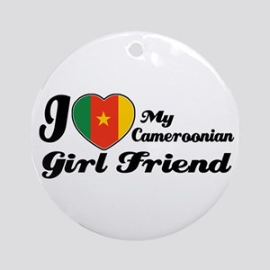 Cameroonian girl friend Ornament (Round)